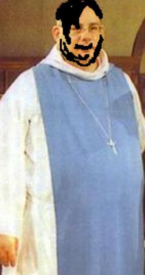 Foto der trashigen Hauptperson: Manser, the biggest Priest